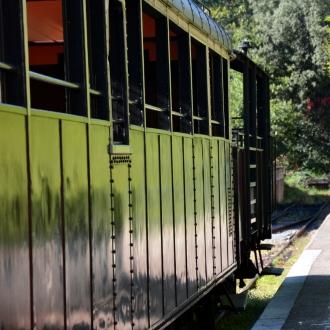 Les wagons du train à vapeur
